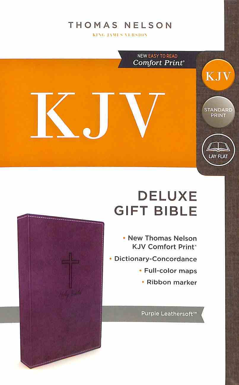 KJV Deluxe Gift Bible Purple (Red Letter Edition) Premium Imitation Leather