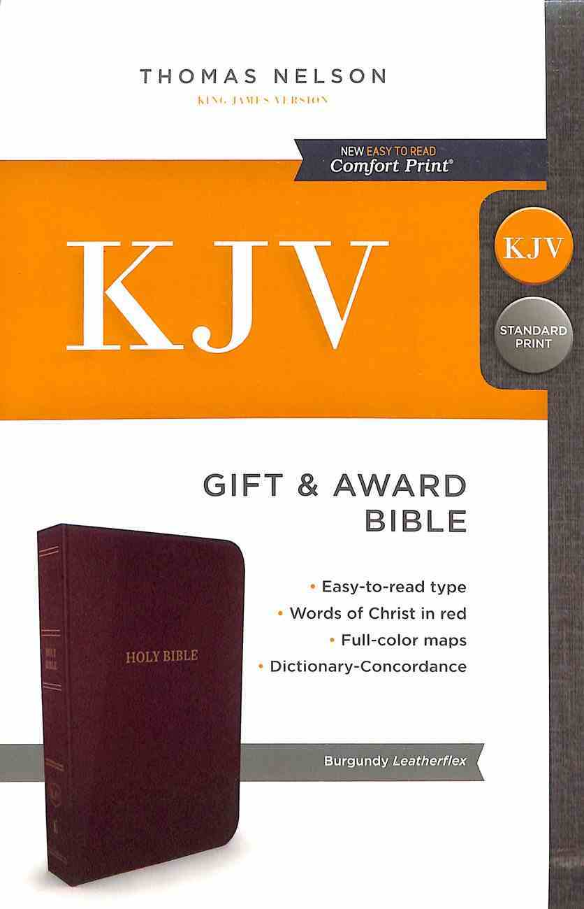 KJV Gift and Award Bible Burgundy (Red Letter Edition) Imitation Leather