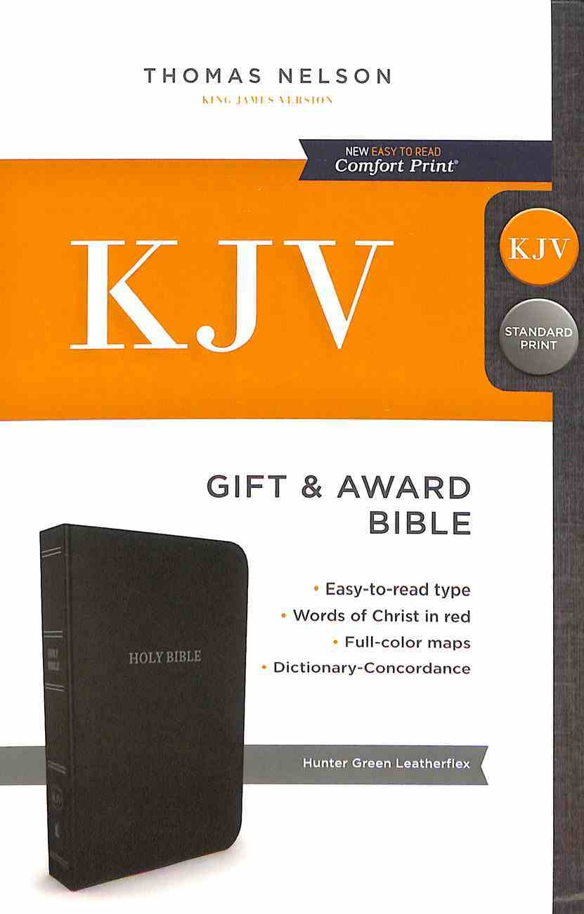 KJV Gift and Award Bible Green (Red Letter Edition) Imitation Leather