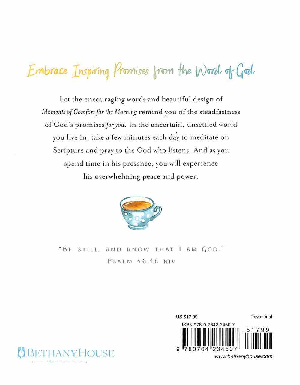 Moments of Comfort For the Morning: Daily Reminders of God's Love and Promises Hardback
