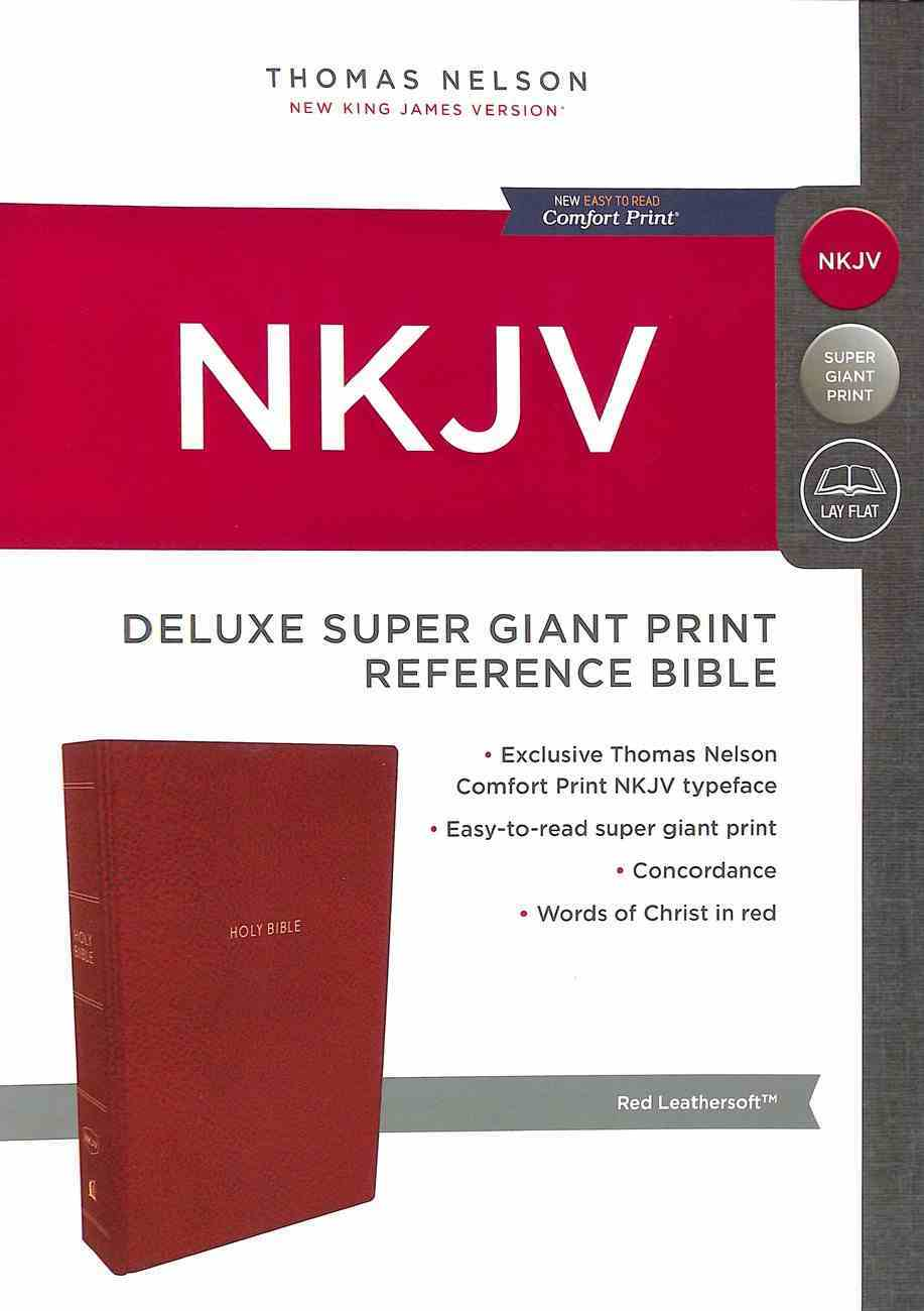 NKJV Deluxe Reference Bible Super Giant Print Red (Red Letter Edition) Premium Imitation Leather