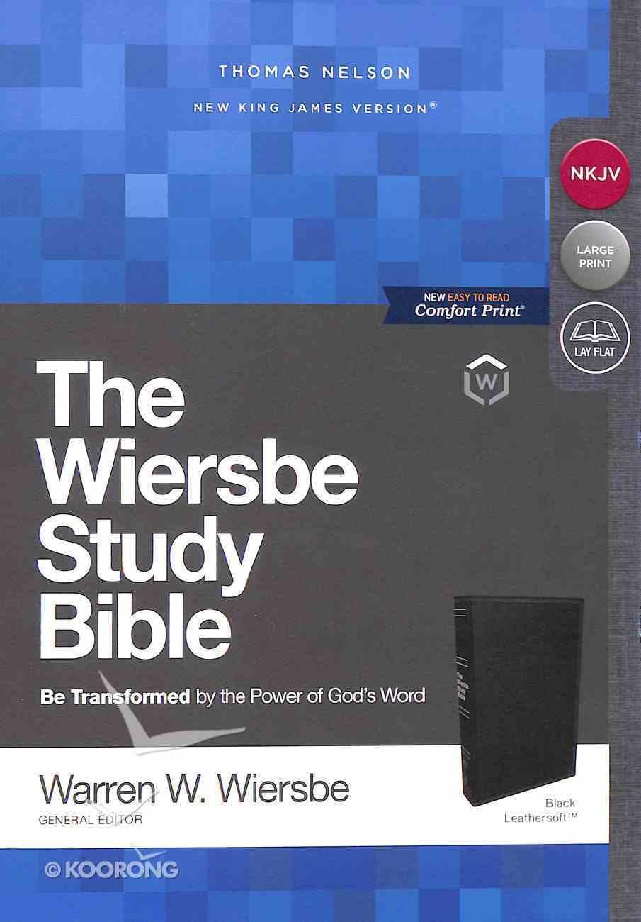 NKJV Wiersbe Study Bible Black Premium Imitation Leather