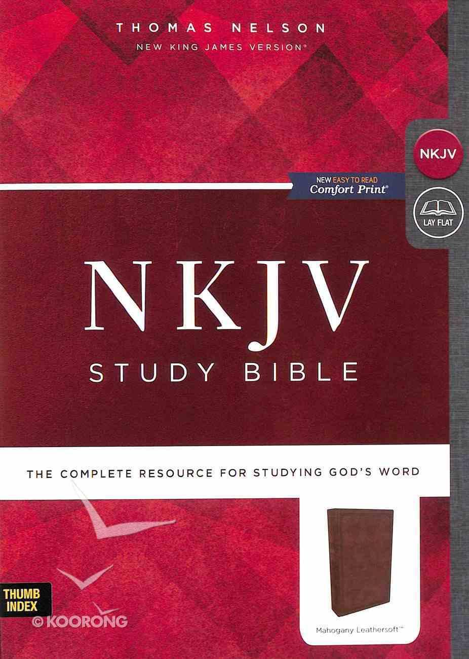 NKJV Study Bible Brown Indexed (Black Letter Edition) Imitation Leather