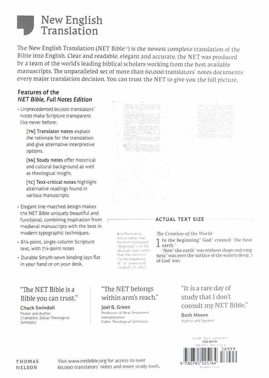 NET Bible Full-Notes Edition Black Premium Imitation Leather