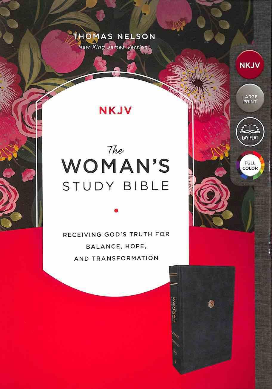 NKJV Woman's Study Bible Blue Premium Imitation Leather