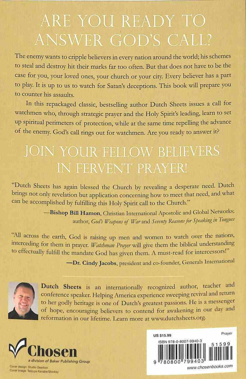 Watchman Prayer: Protecting Your Family, Home and Community From the Enemy's Schemes Paperback