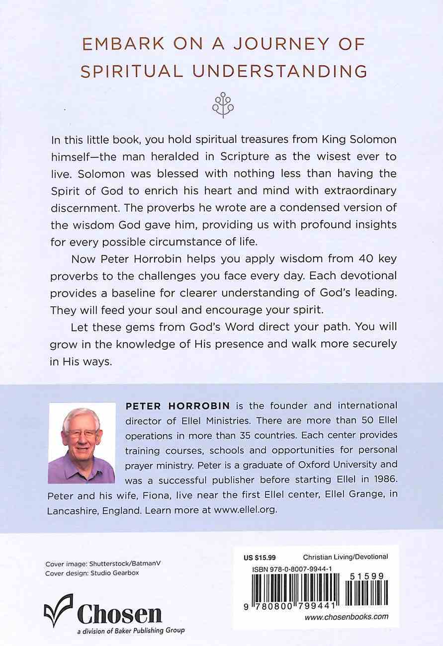 Wisdom From the Proverbs: A 40-Day Devotional Journey Paperback