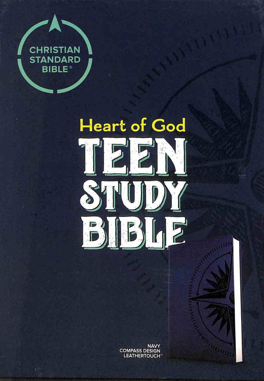 CSB Heart of God Teen Study Bible Navy Compass Design Imitation Leather
