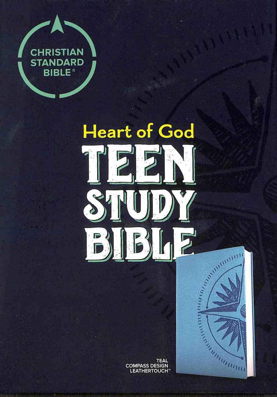 CSB Heart of God Teen Study Bible Teal Compass Design Imitation Leather