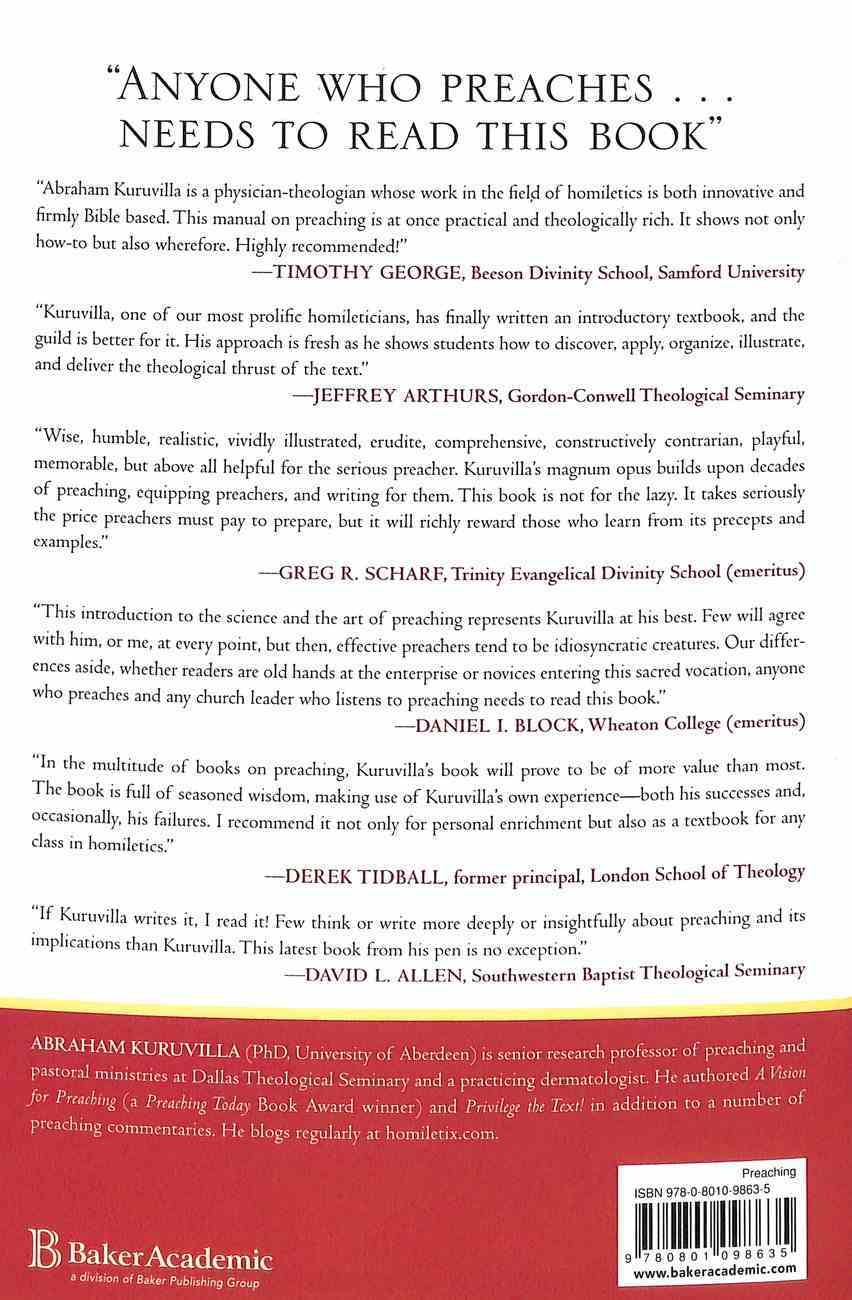 A Manual For Preaching: The Journey From Text to Sermon Paperback