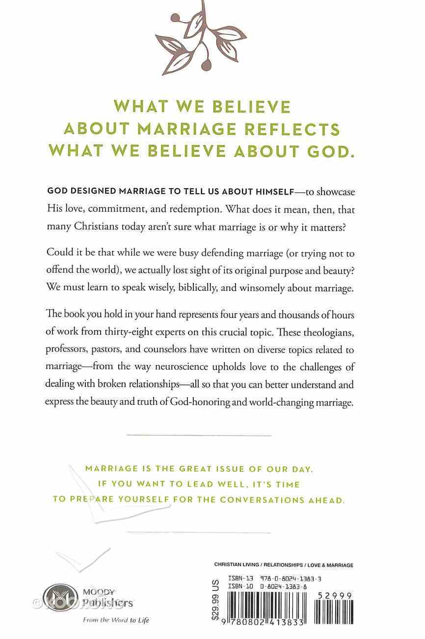 Marriage: Its Foundation, Theology, and Mission in a Changing World Hardback