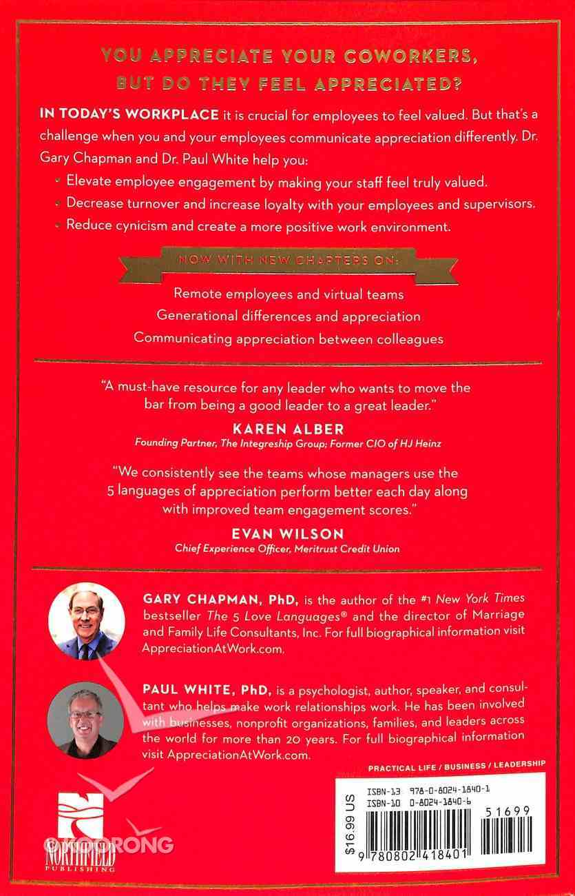 The 5 Languages of Appreciation in the Workplace: Empowering Organizations By Encouraging People Paperback