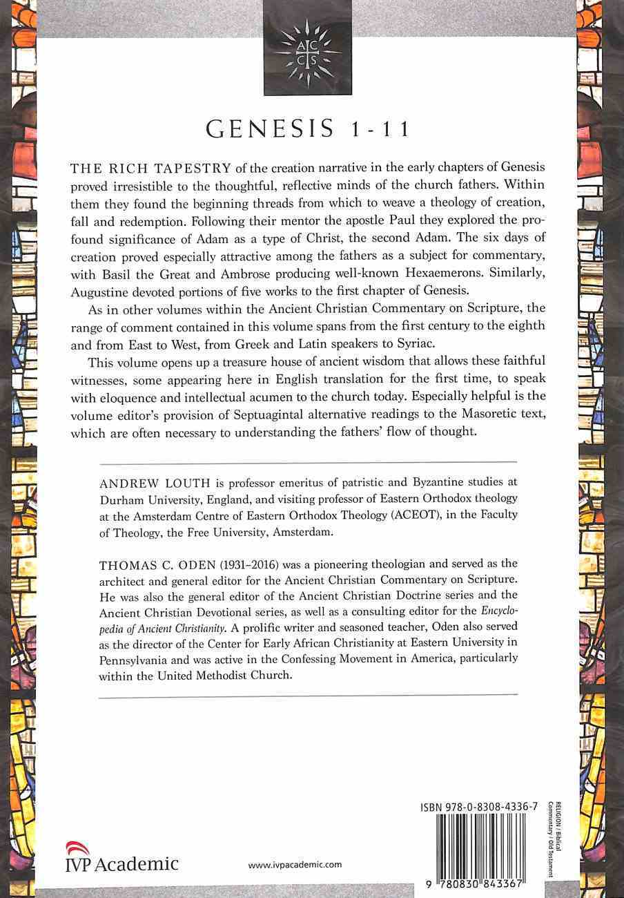 Accs OT: Genesis 1-11 (Ancient Christian Commentary On Scripture: Old Testament Series) Paperback