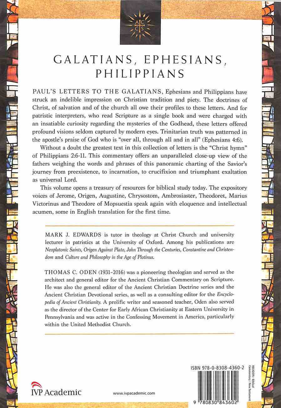 Accs NT: Galatians, Ephesians, Philippians (Ancient Christian Commentary On Scripture: New Testament Series) Paperback
