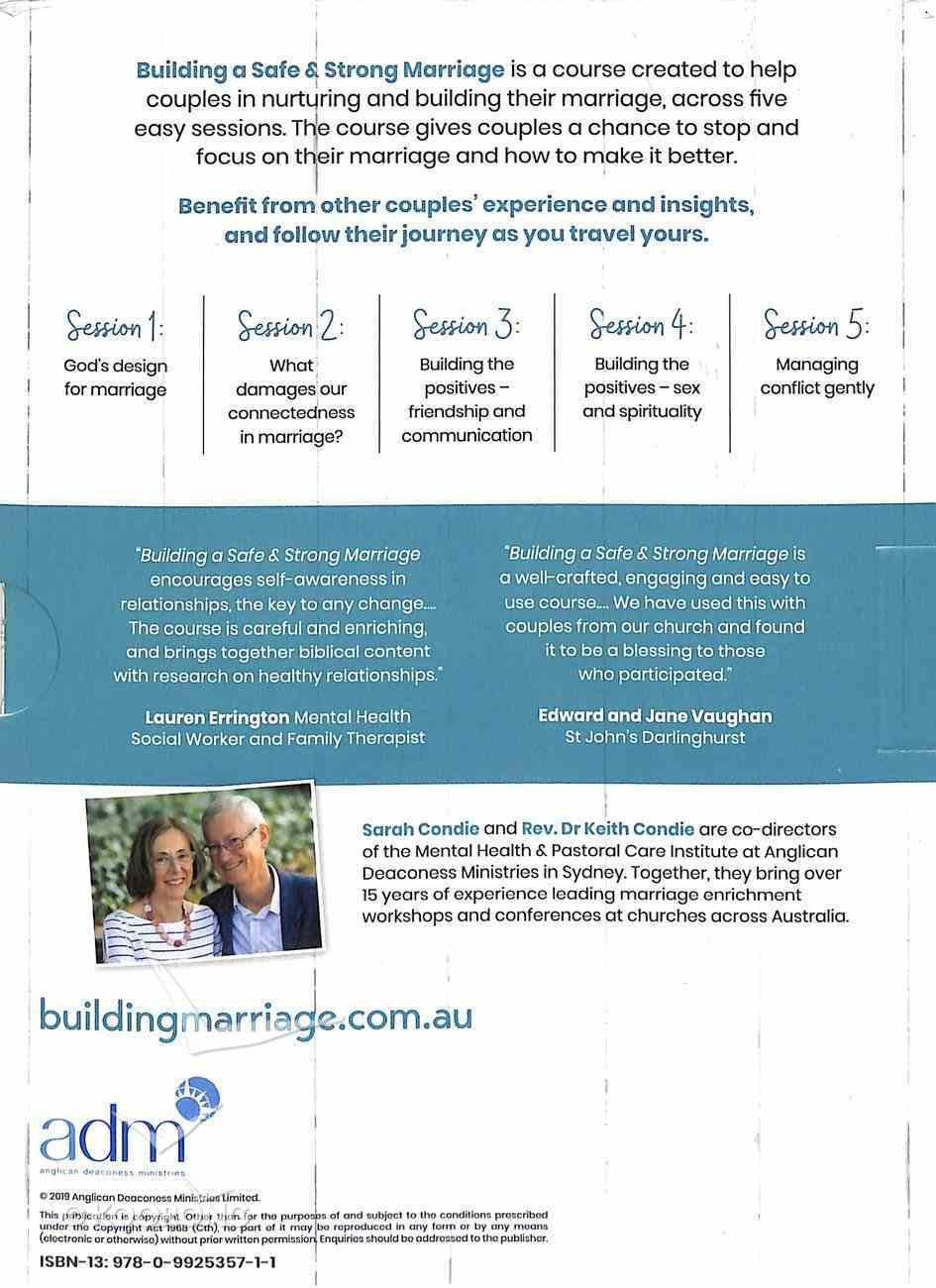 Building a Safe and Strong Marriage DVD: A Five Part Marriage Enrichment Course DVD