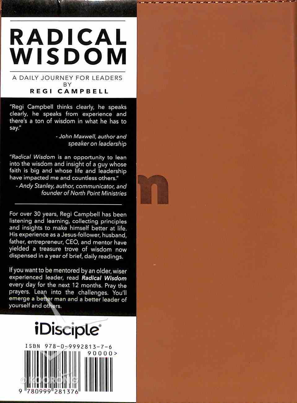 Radical Wisdom: A Daily Journey For Leaders Imitation Leather