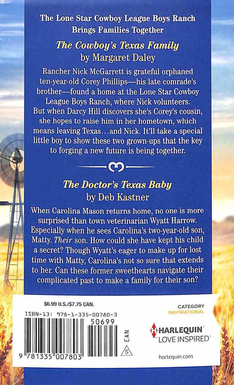 Texas Haven: The Cowboy's Texas Family; the Doctor's Texas Baby (2 Books in 1) (Love Inspired Series Historical) Mass Market