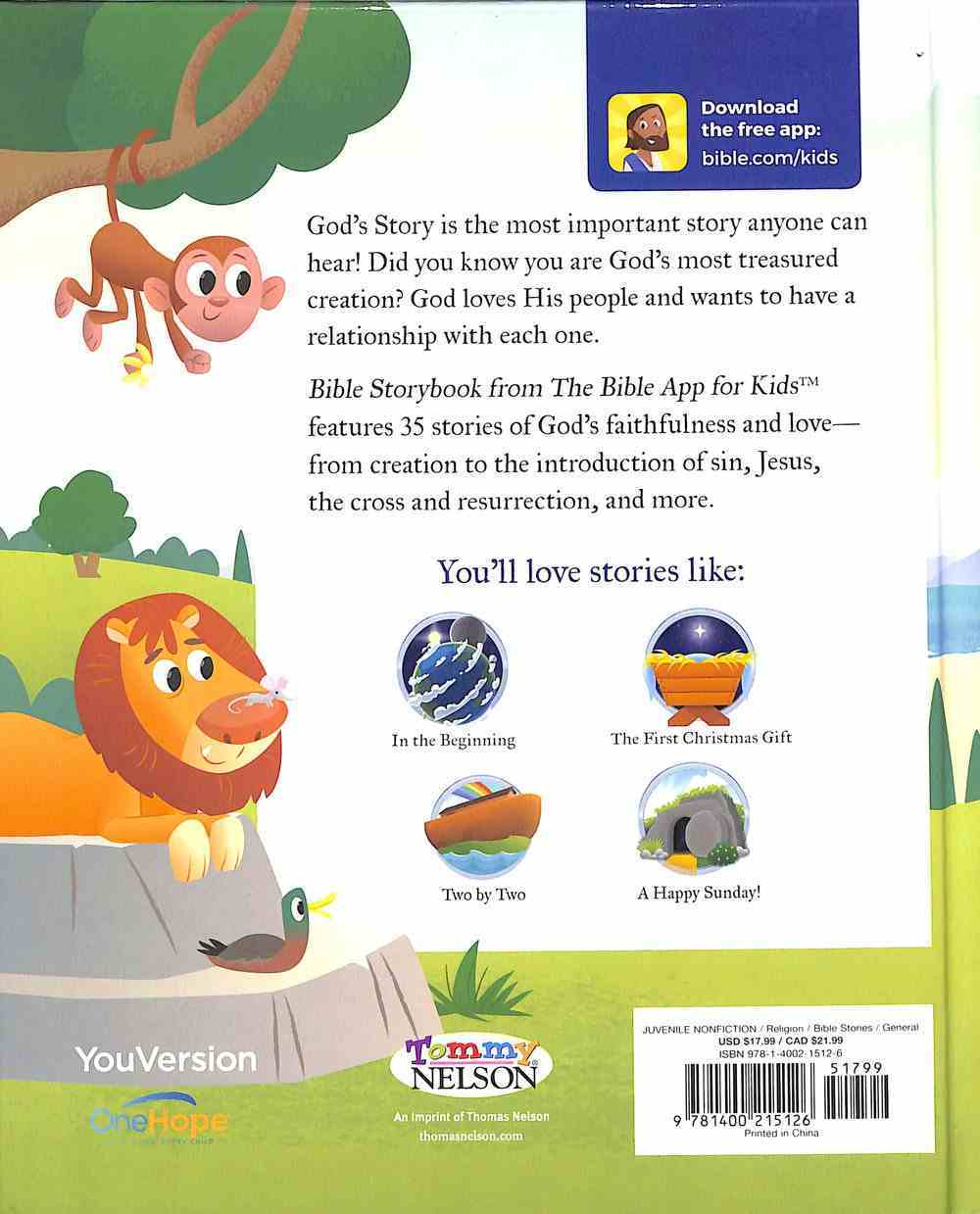 Bible Storybook: From the Bible App For Kids Hardback