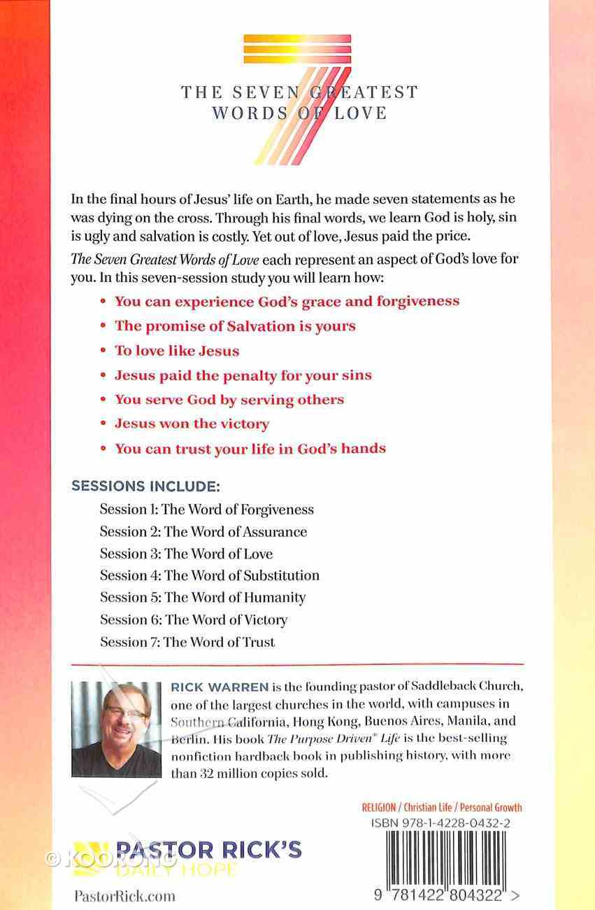 The Seven Greatest Words of Love (Study Guide) Paperback
