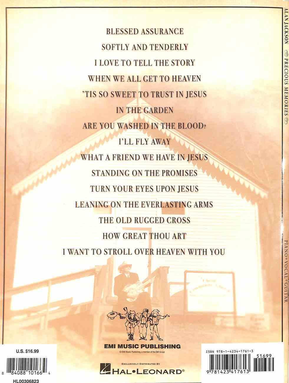 Alan Jackson Precious Memories: Piano, Vocal, Guitar (Music Book) Paperback