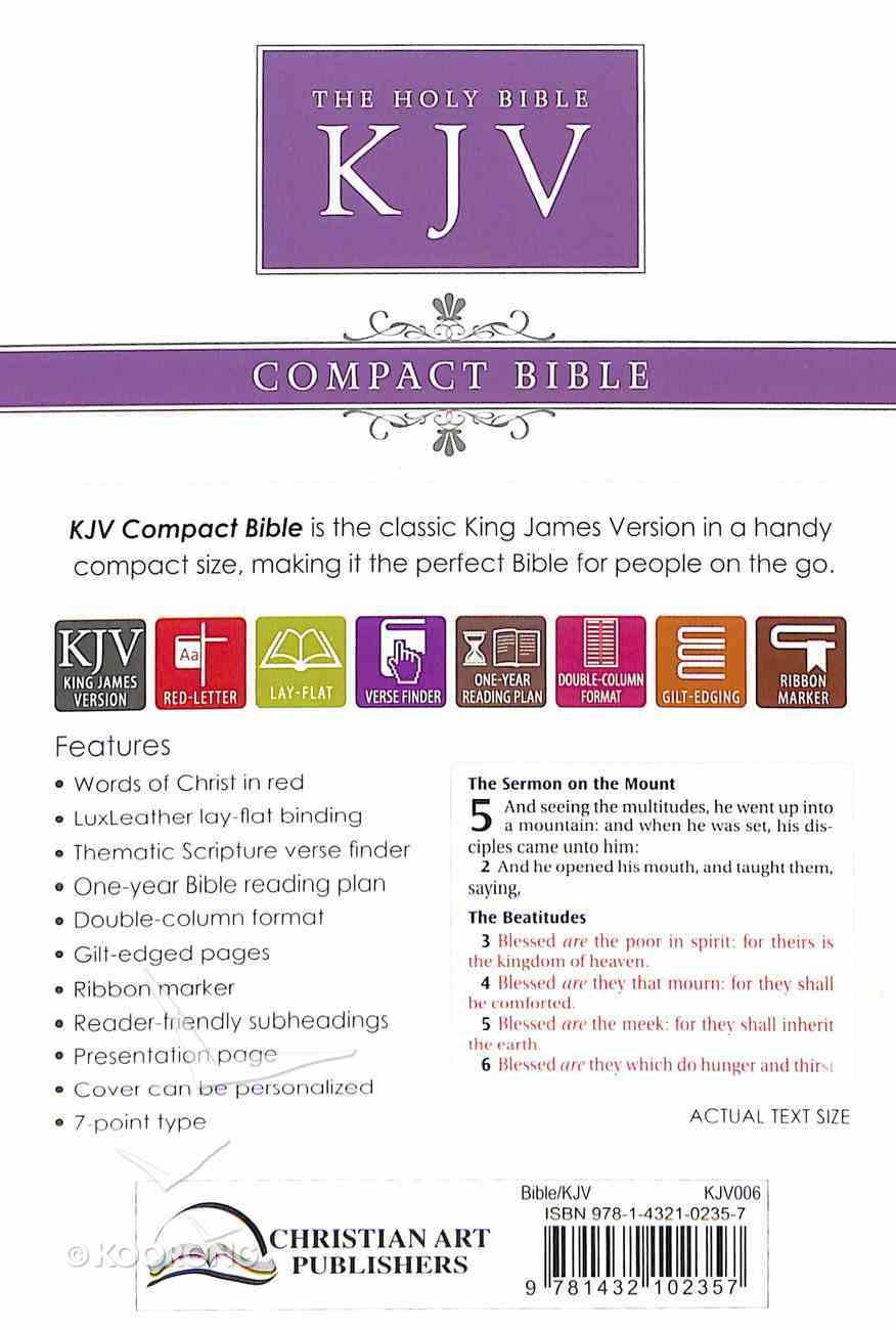 KJV Pocket Edition White Red Letter Edition Imitation Leather