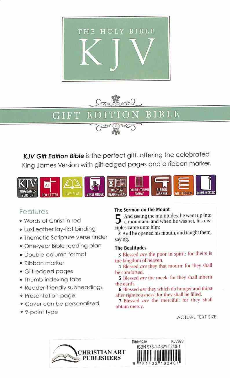KJV Gift and Award Bible Burgundy Red Letter Edition Imitation Leather