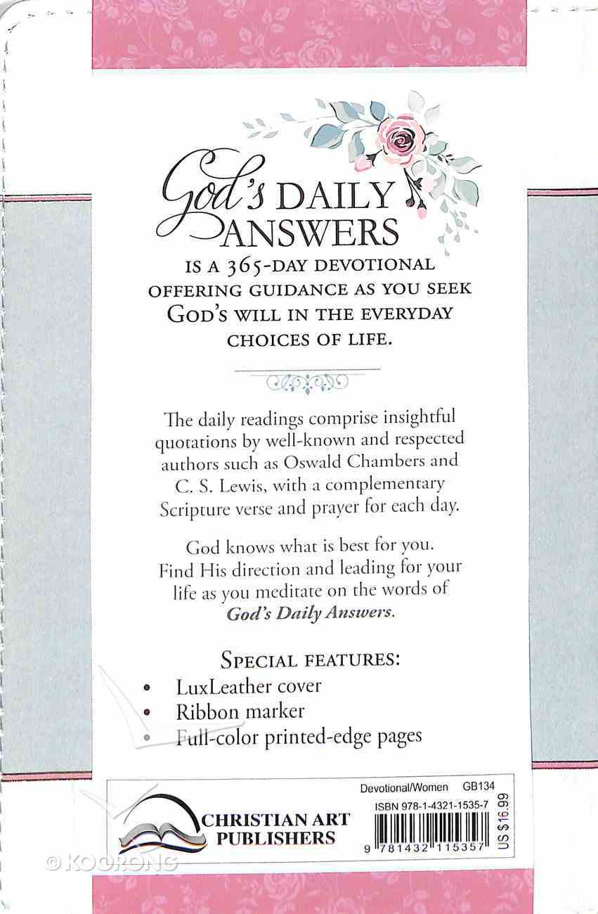 God's Daily Answers - Godly Wisdom to Direct Your Steps (365 Daily Devotions Series) Flexi Back