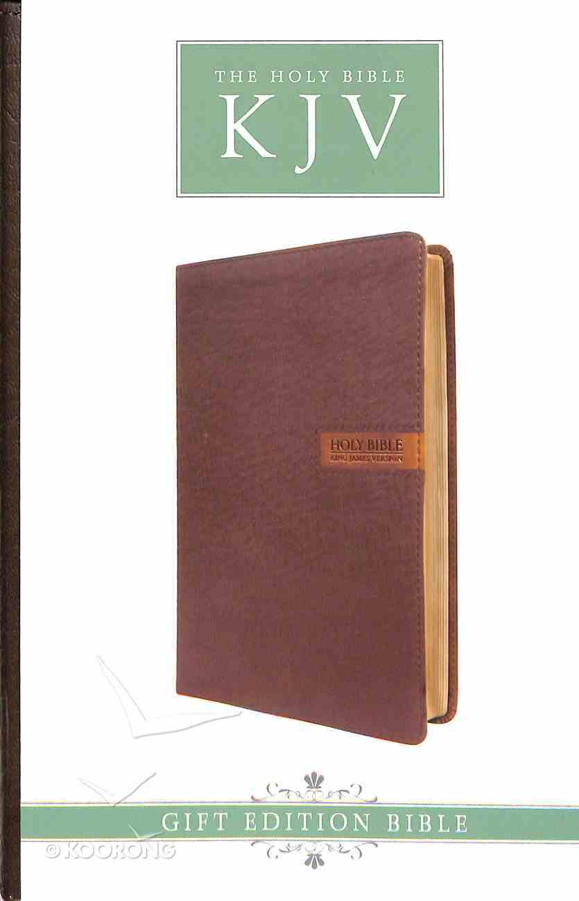 KJV Gift and Award Bible Brown With Patch Red Letter Edition Imitation Leather