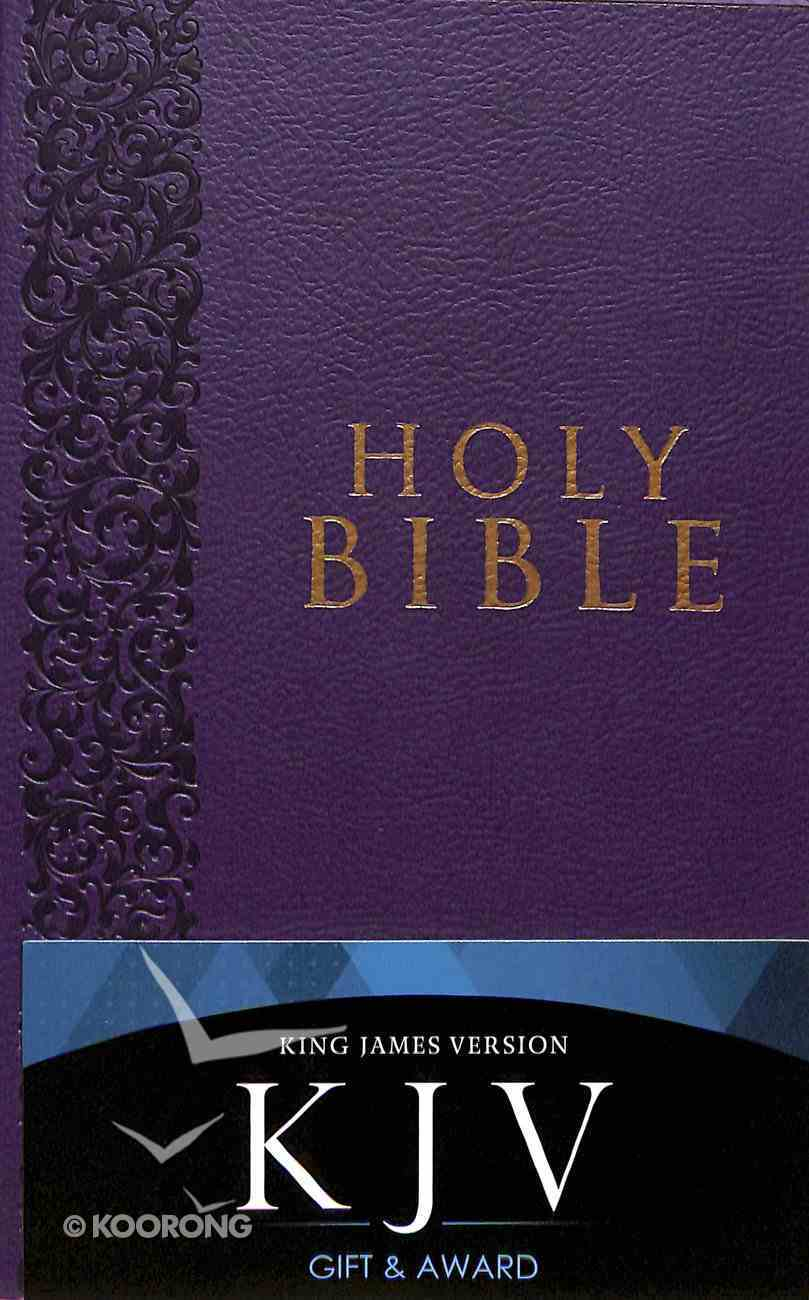 KJV Gift & Award Bible Purple (Black Letter Edition) Imitation Leather