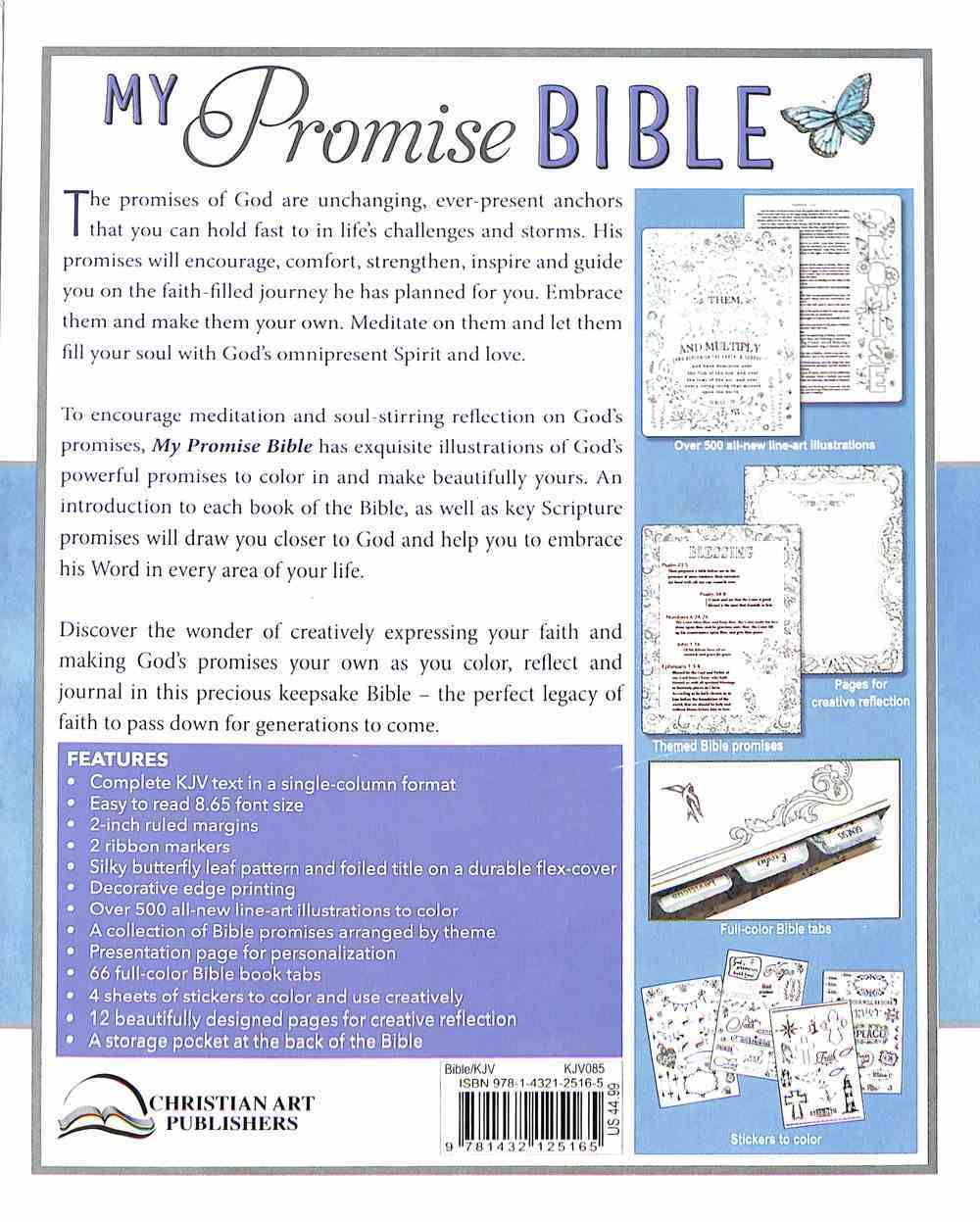 KJV My Promise Bible Large Print Butterfly (Black Letter Edition) Hardback