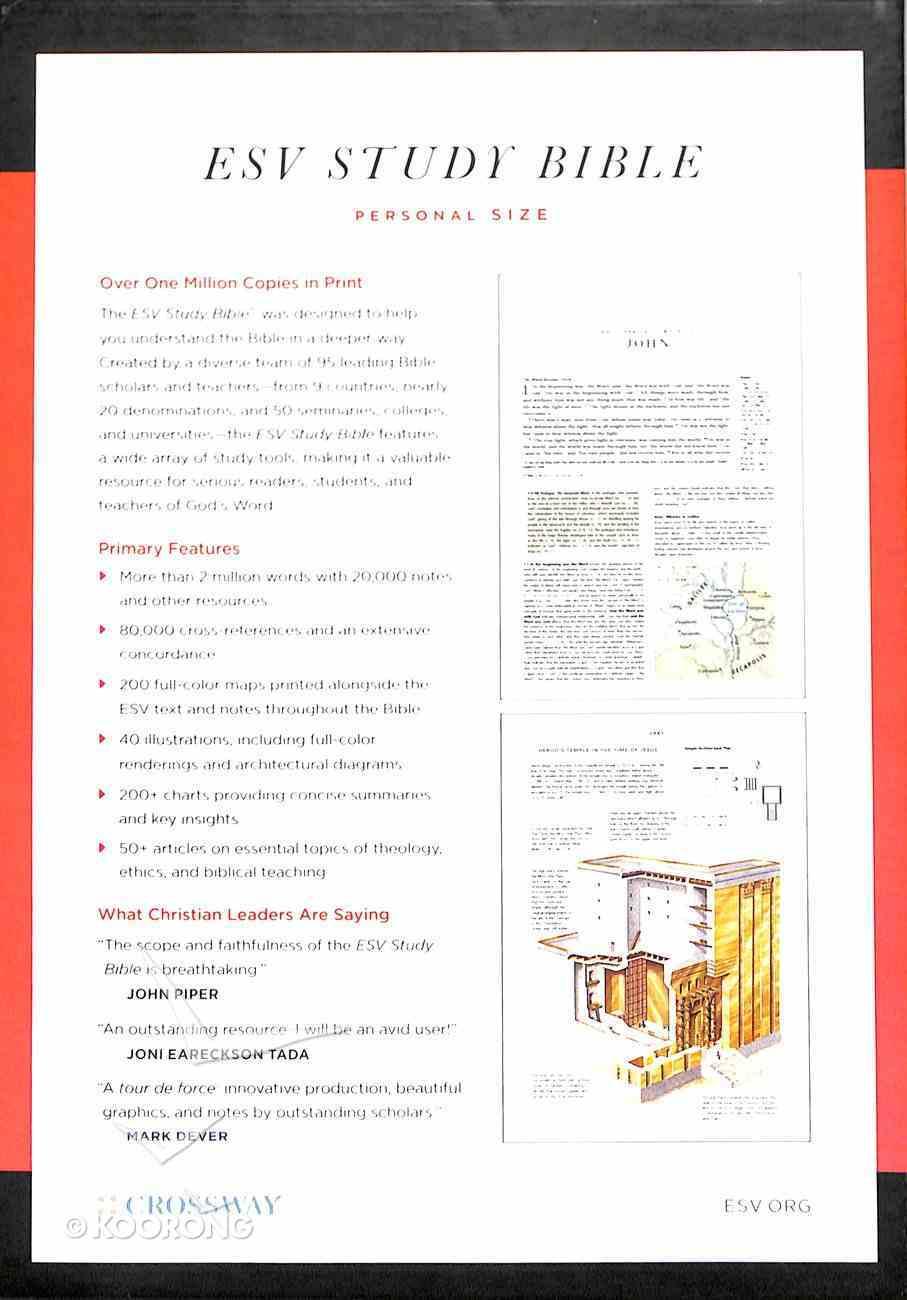 ESV Study Bible Personal Size Black (Black Letter Edition) Hardback