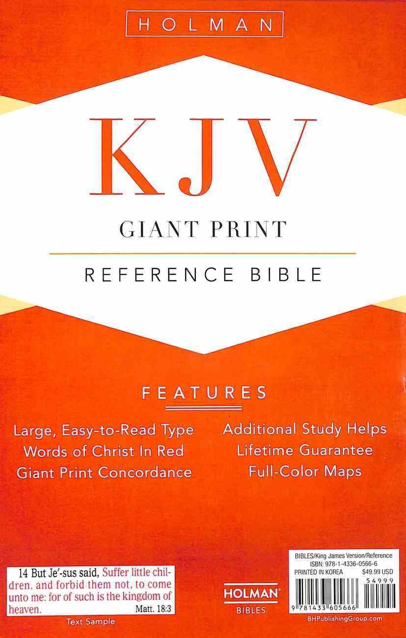 KJV Giant Print Reference Indexed Bible Saddle Brown Premium Imitation Leather