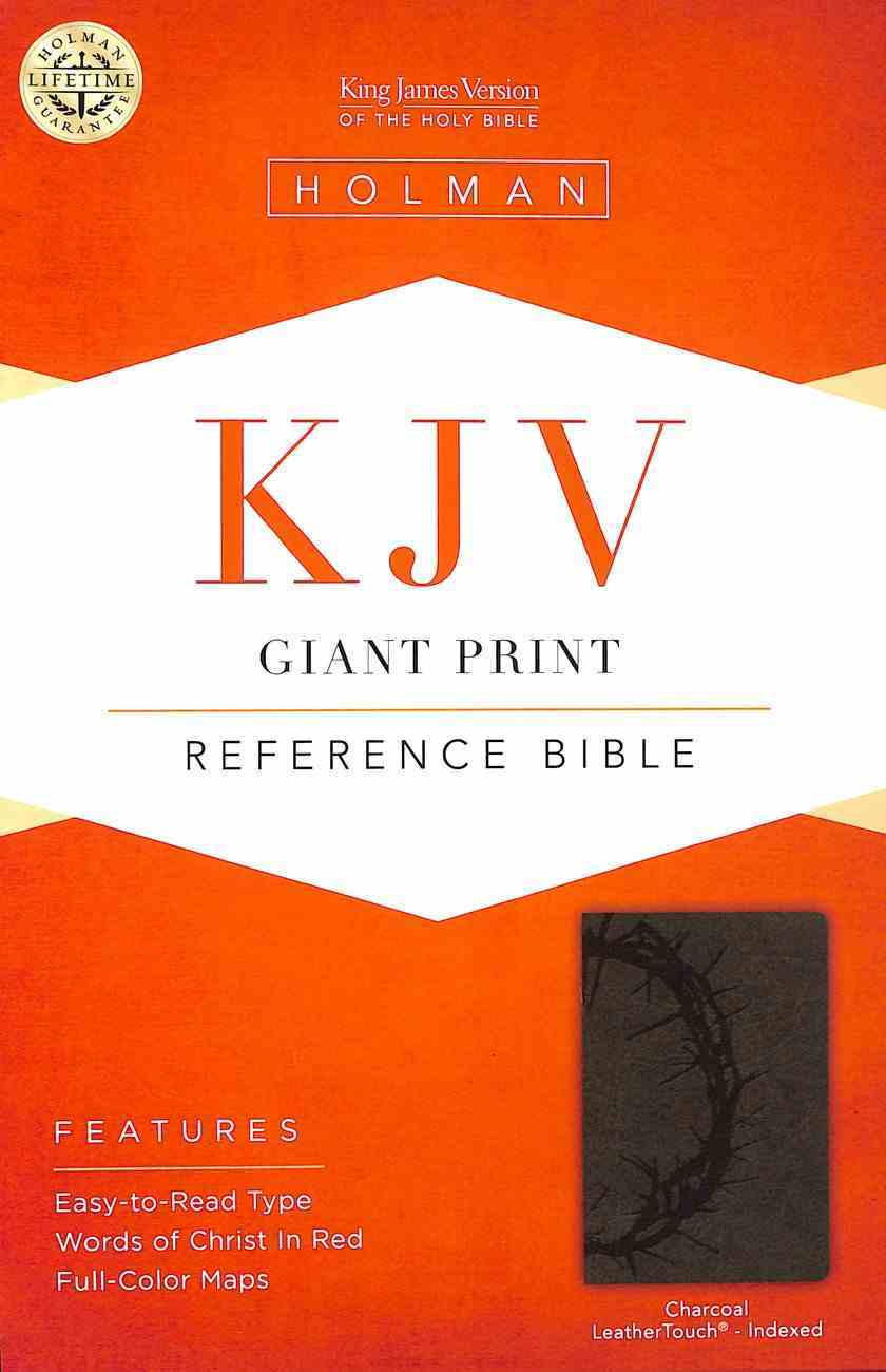 KJV Giant Print Reference Indexed Bible Charcoal Premium Imitation Leather