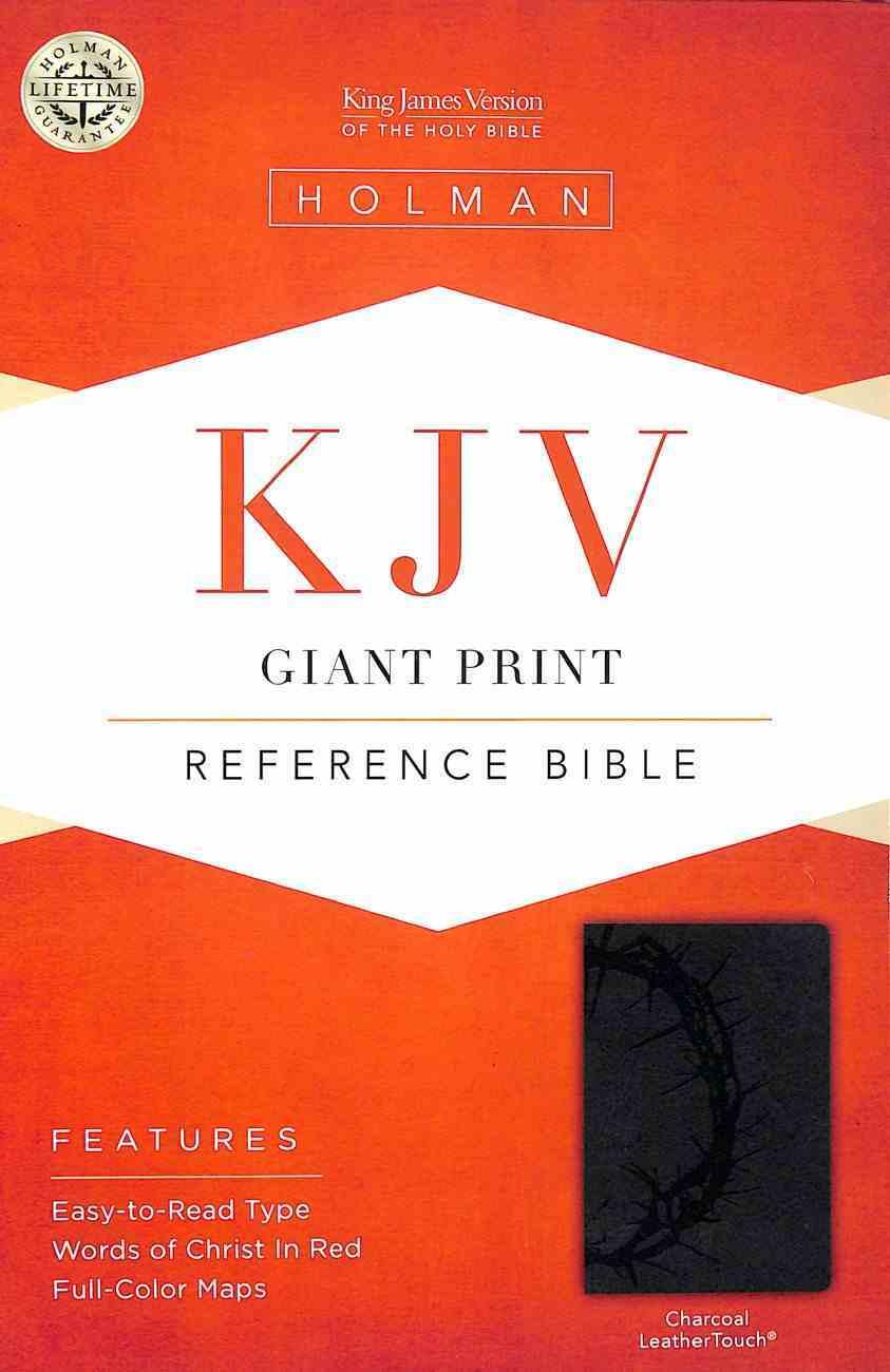 KJV Giant Print Reference Bible Charcoal Premium Imitation Leather