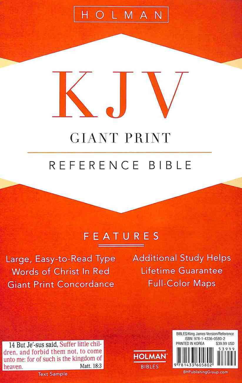 KJV Giant Print Reference Indexed Bible Brown Premium Imitation Leather