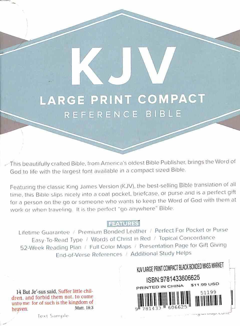 KJV Large Print Compact Bible Black Bonded Leather