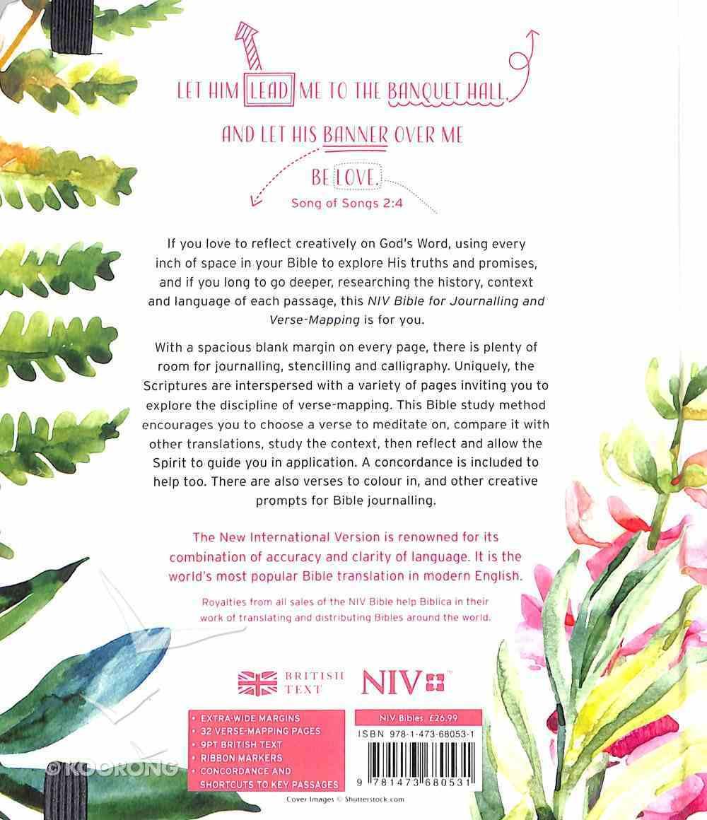 NIV Verse Mapping Bible Floral Pink Hardback