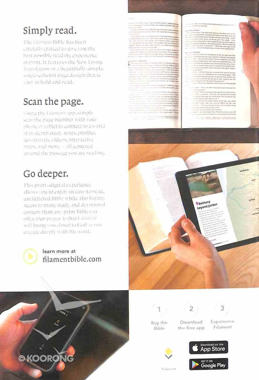 NLT Filament Bible Gray (Black Letter Edition) (The Print+digital Bible) Hardback