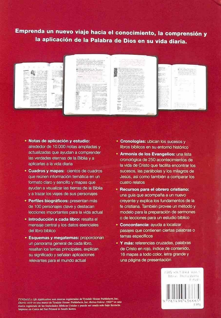 Rvr60 Biblia De Estudio Del Diario Vivir Letra Grande (Red Letter Edition) (Large Print Study Bible) Hardback