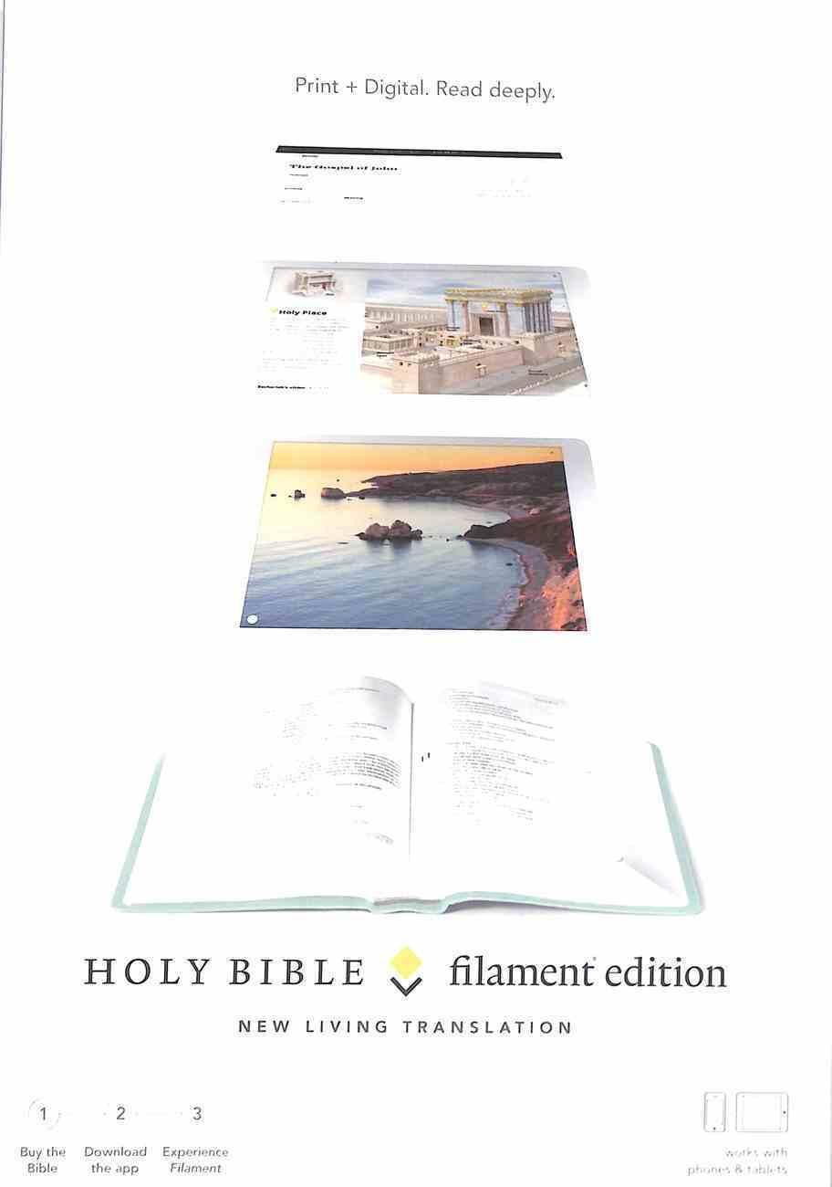 NLT Filament Bible Teal (Black Letter Edition) (The Print+digital Bible) Imitation Leather