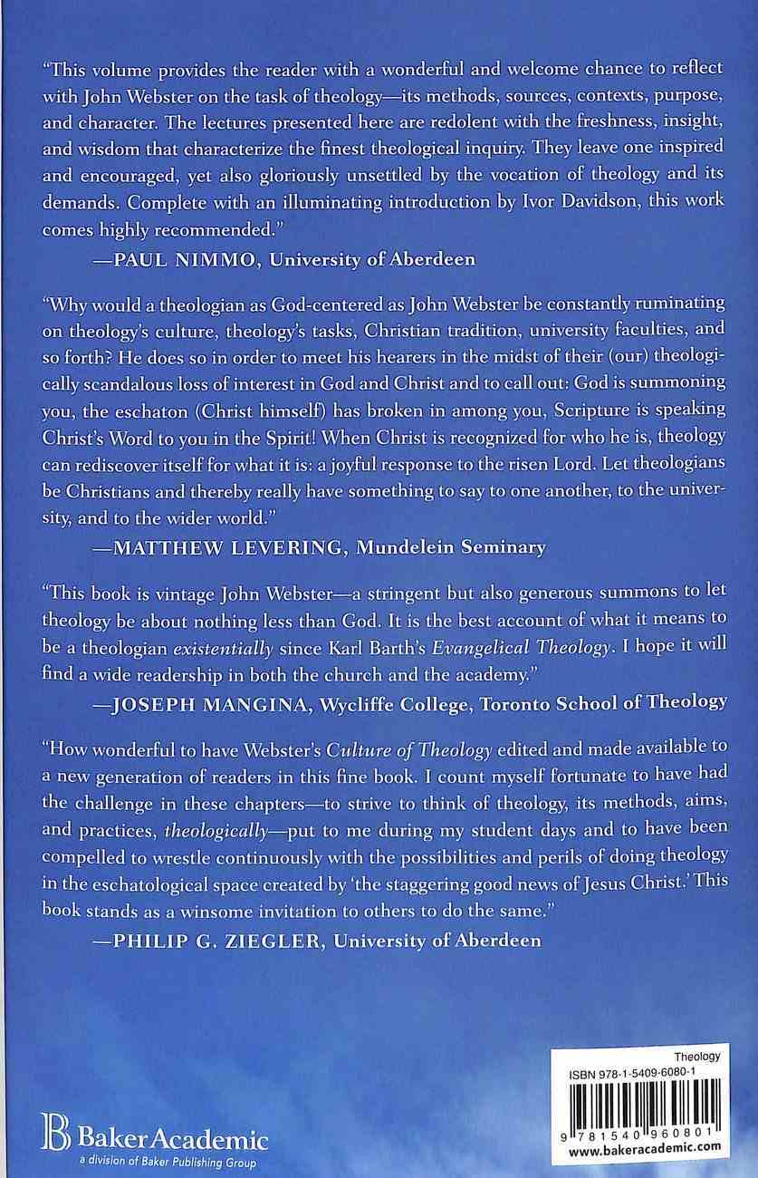 The Culture of Theology Hardback