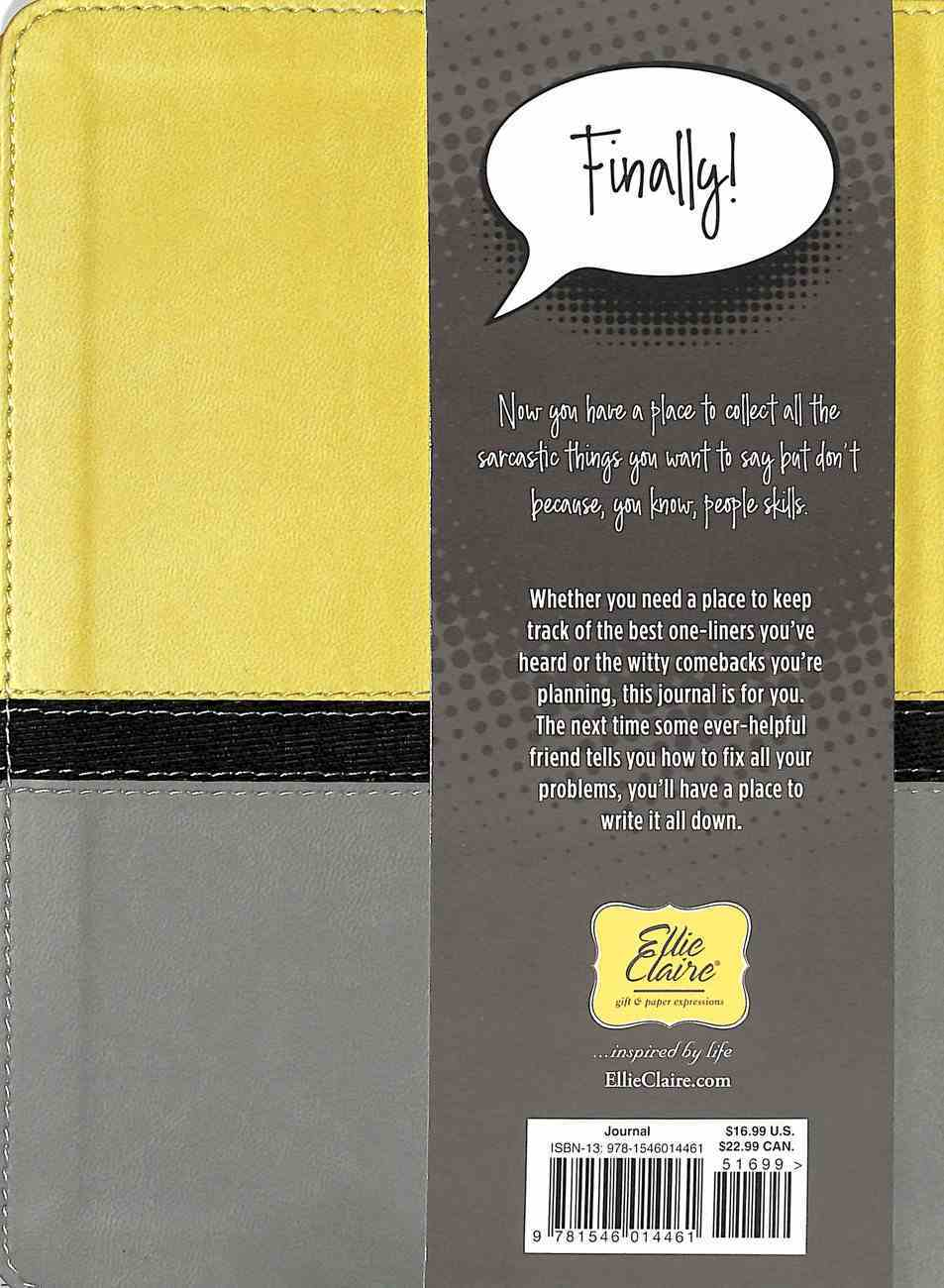 Journal: Let Me Write That Down With Elastic Closure Imitation Leather