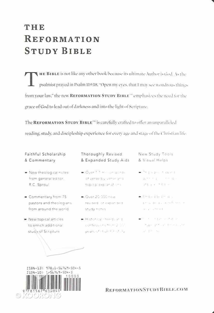 NKJV Reformation Study Bible Black Leather Genuine Leather
