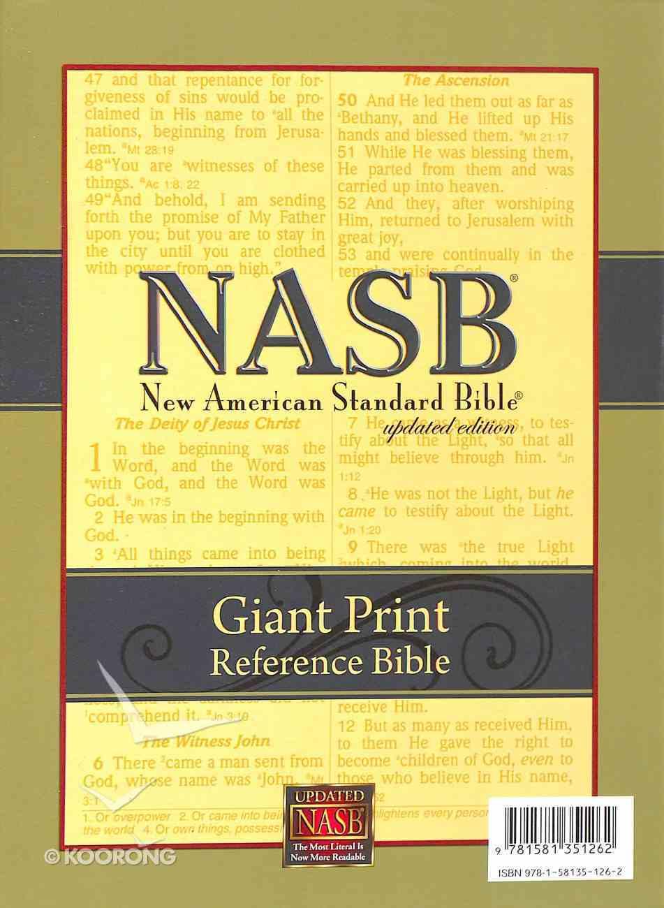NASB Giant Print Reference Bible Black Genuine Leather