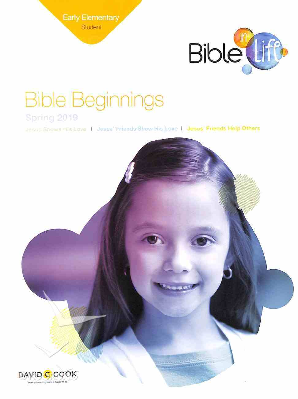 Bible Beginnings (Student Book) (Bible In Life Curriculum Series) Paperback