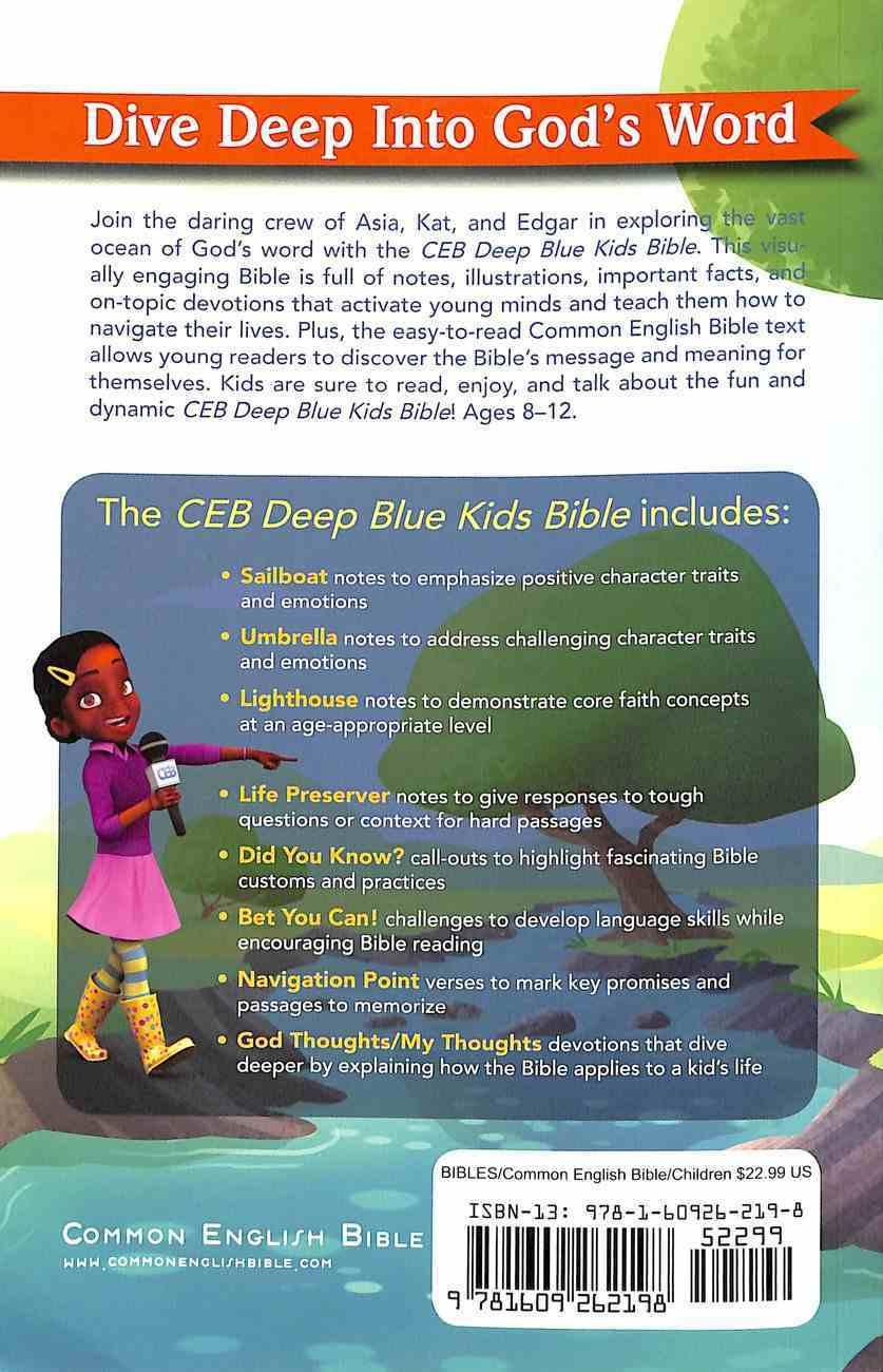 Ceb Deep Blue Kids Bible Wilderness Trail Paperback