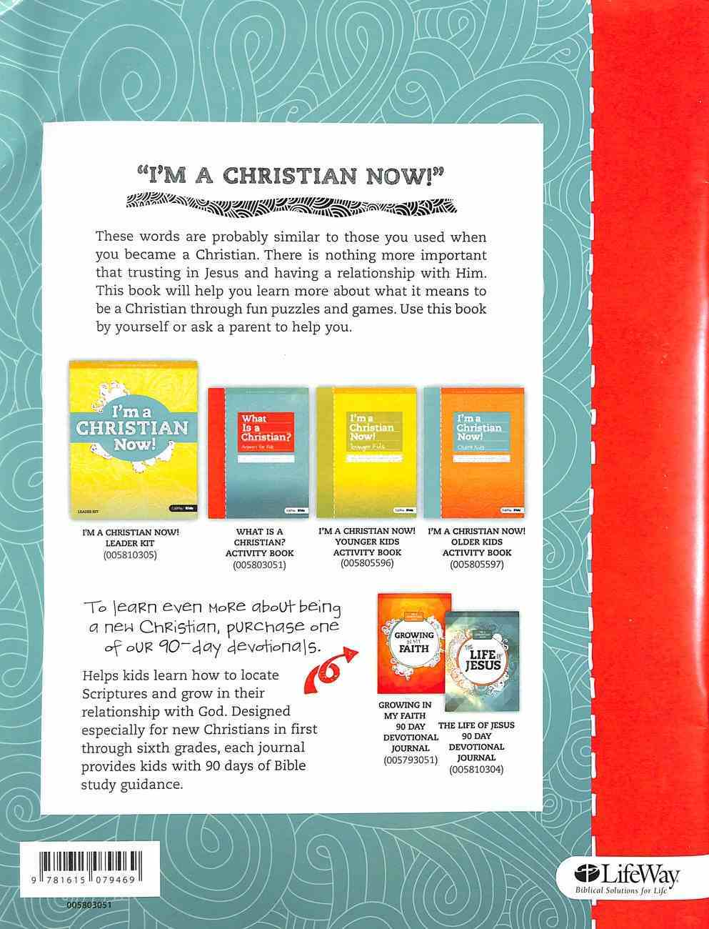 What is a Christian?: Answers For Kids (8 Week Activity Book, Includes Weekly Parent Guide) Paperback