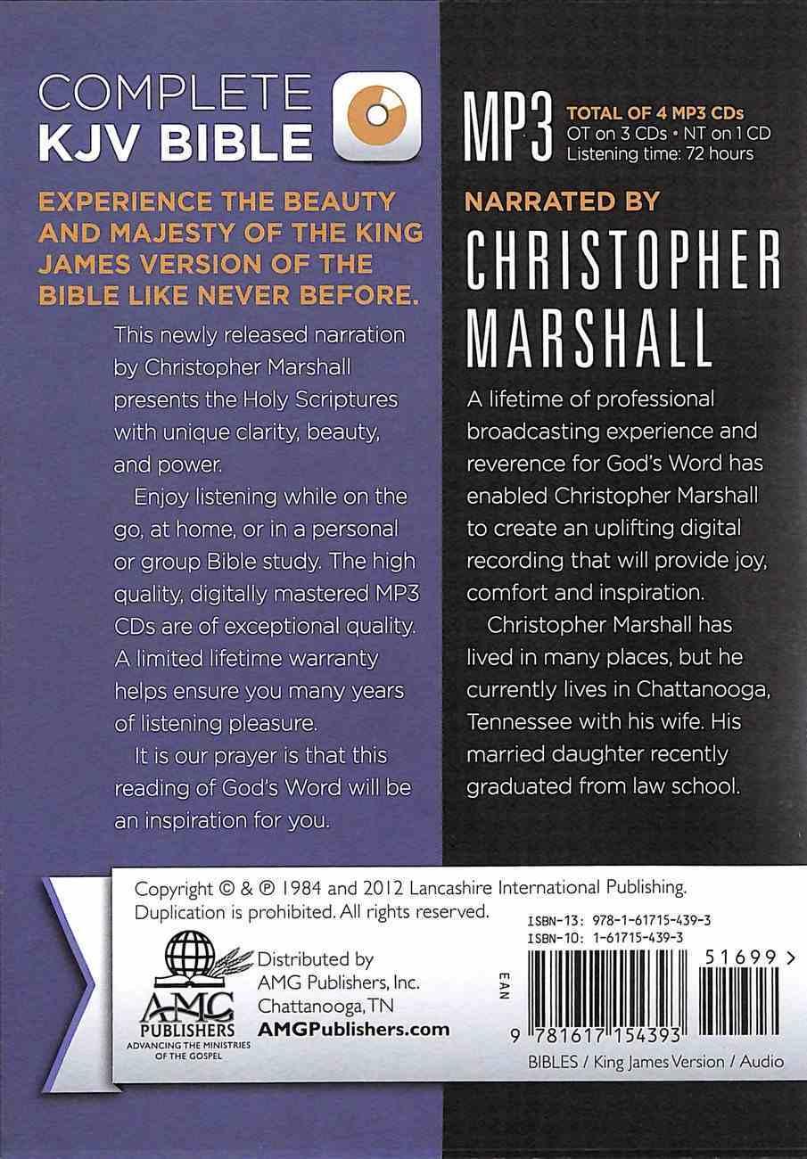 KJV Complete Bible on MP3 CD