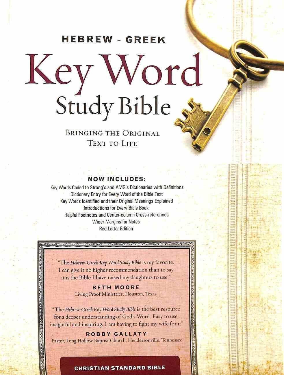 CSB Hebrew-Greek Key Word Study Bible (Red Letter Edition) Hardback