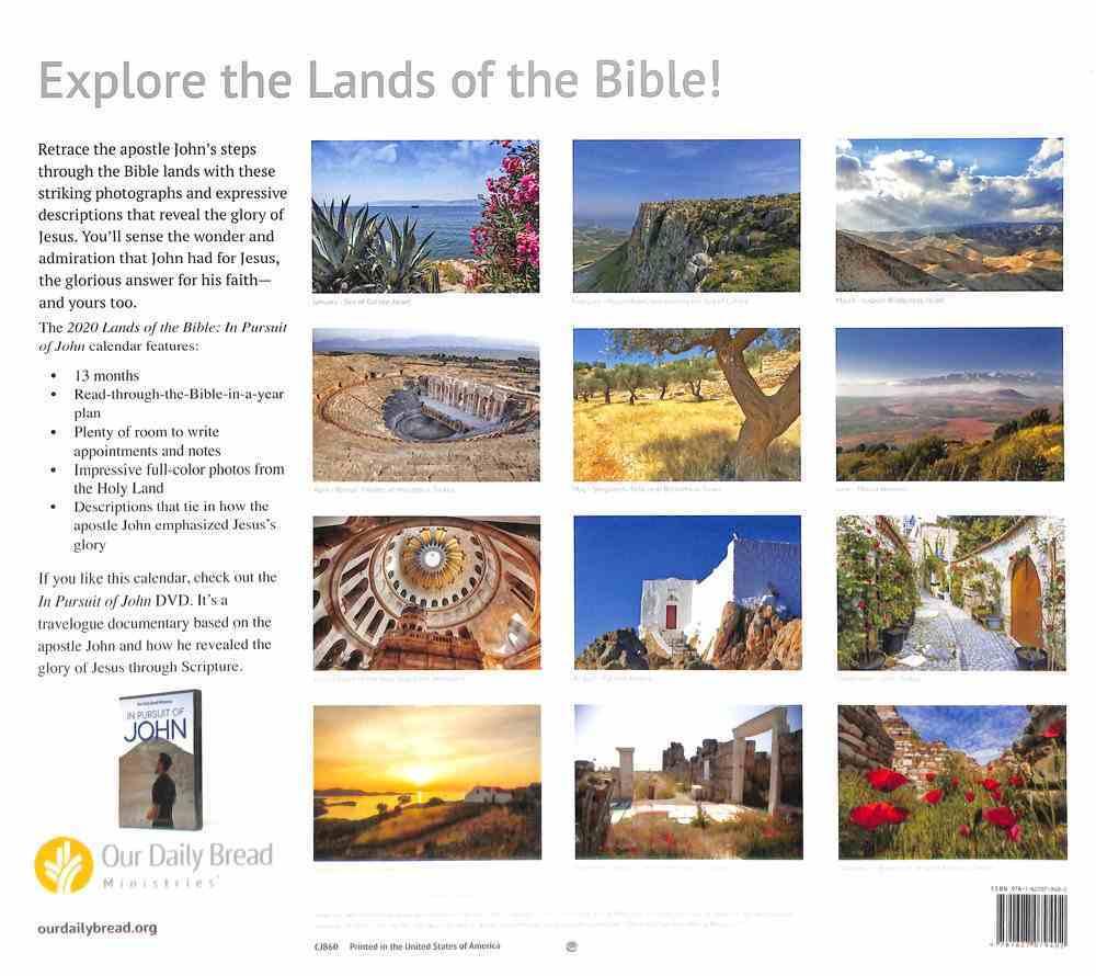 2020 Wall Calendar: Lands of the Bible Calendar